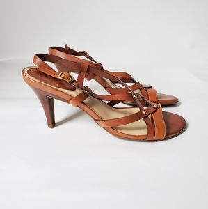 Cole Haan Soft Leather Strappy Heels Sandals